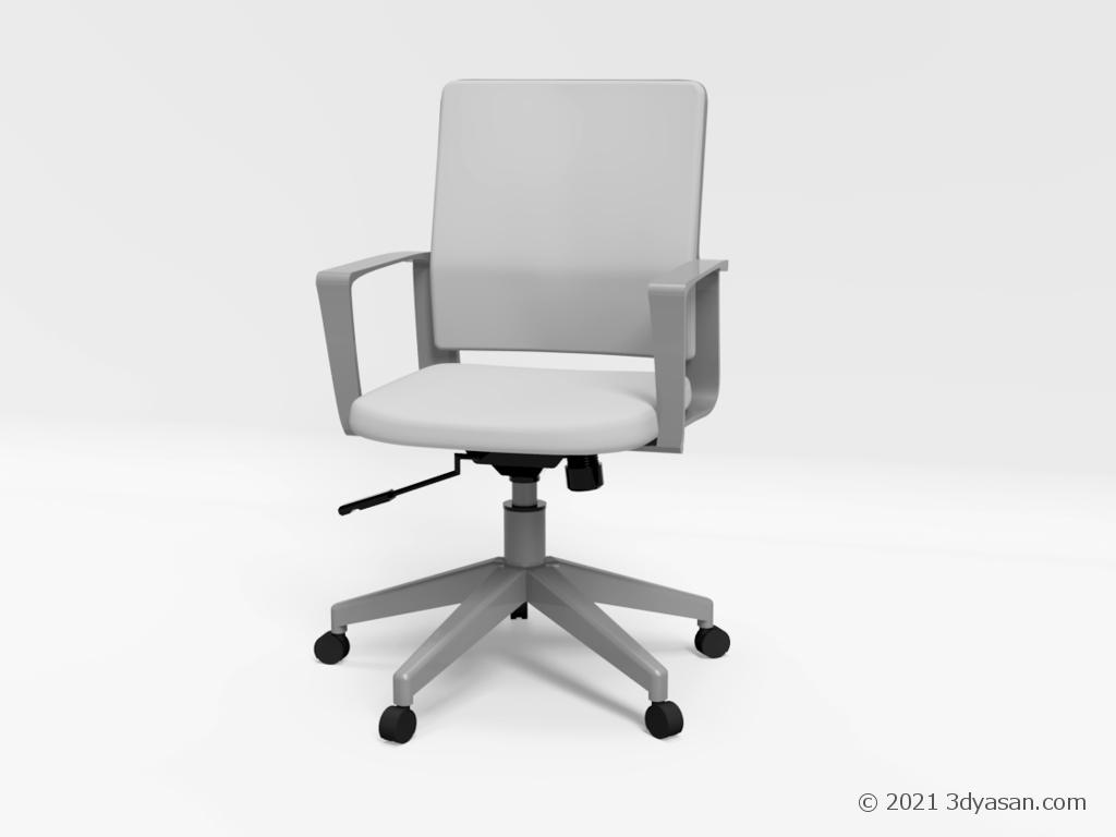 オフィスチェアの3Dモデル