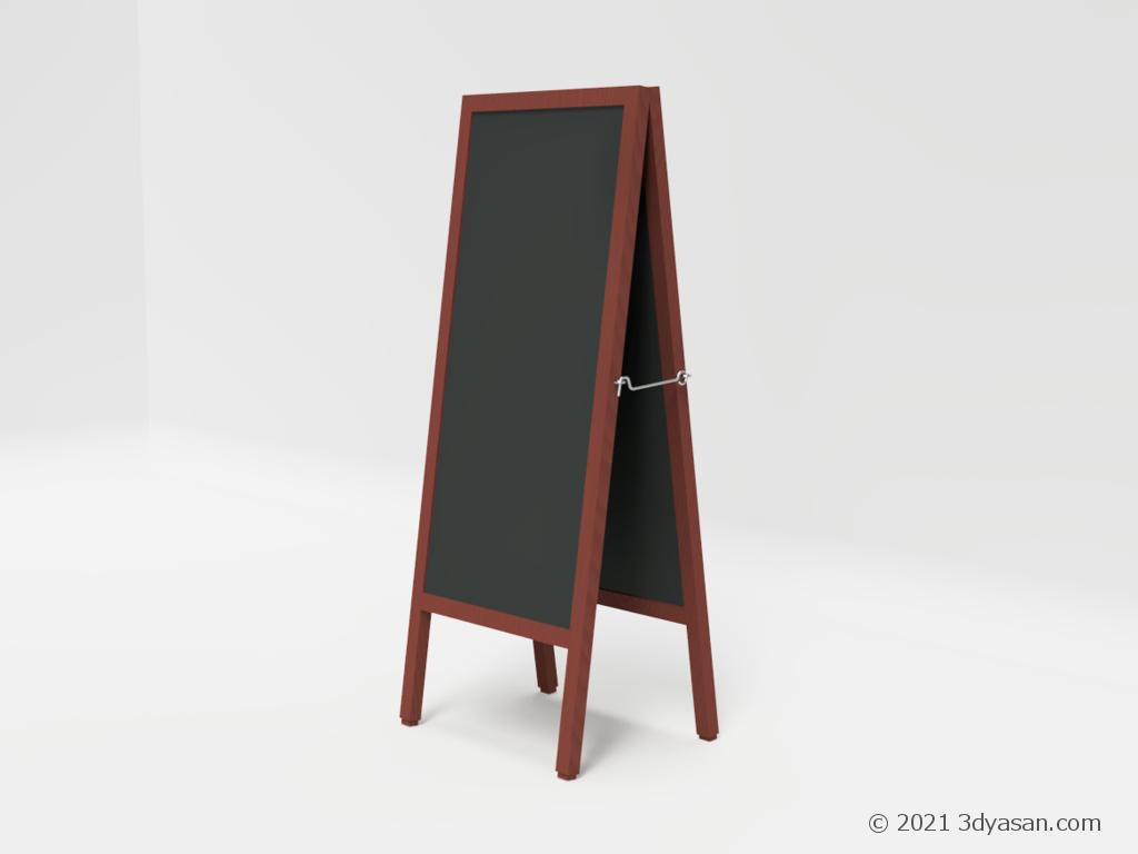 お店のメニューボードの3Dモデル