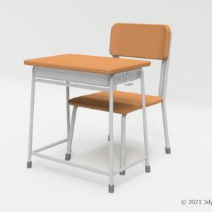 学校机・椅子セット(中)