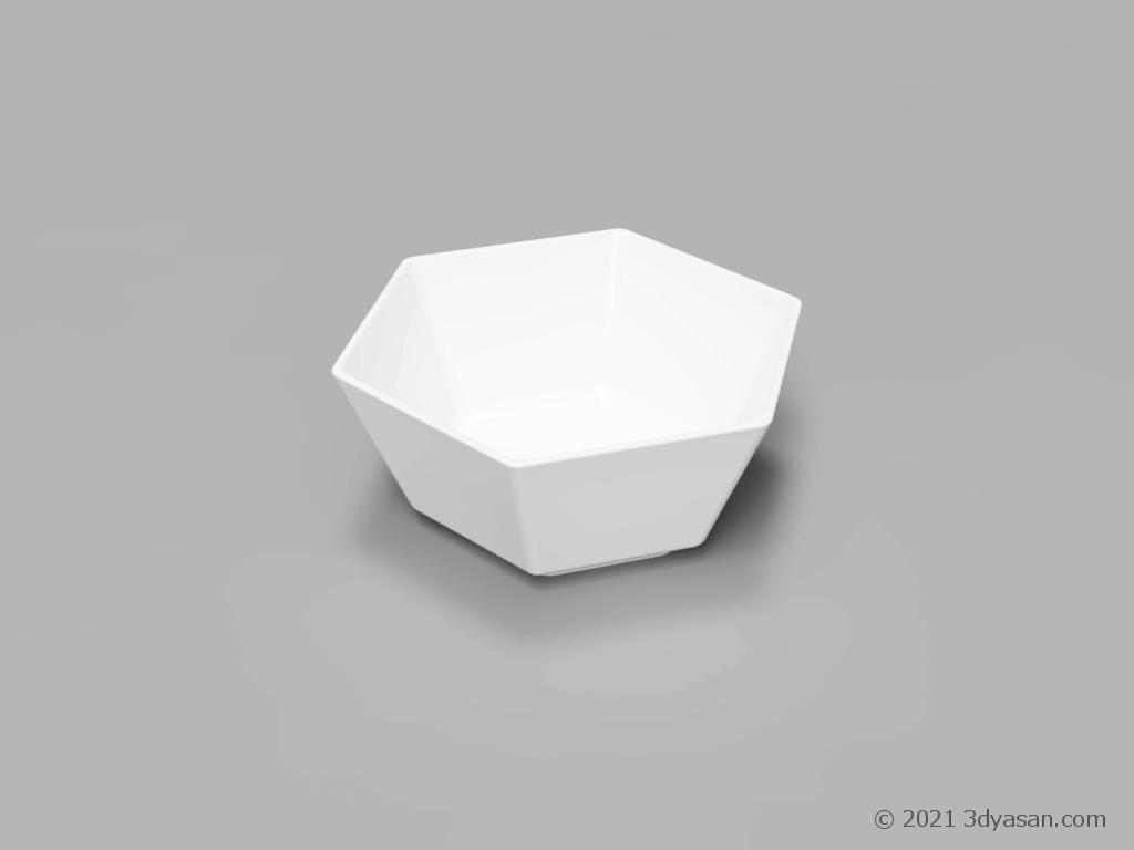 六角型小鉢の3Dモデル