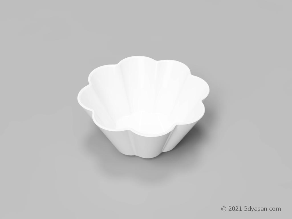 輪花型小鉢の3Dモデル
