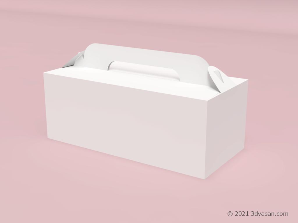 ケーキやドーナツを入れる紙箱の3Dモデル