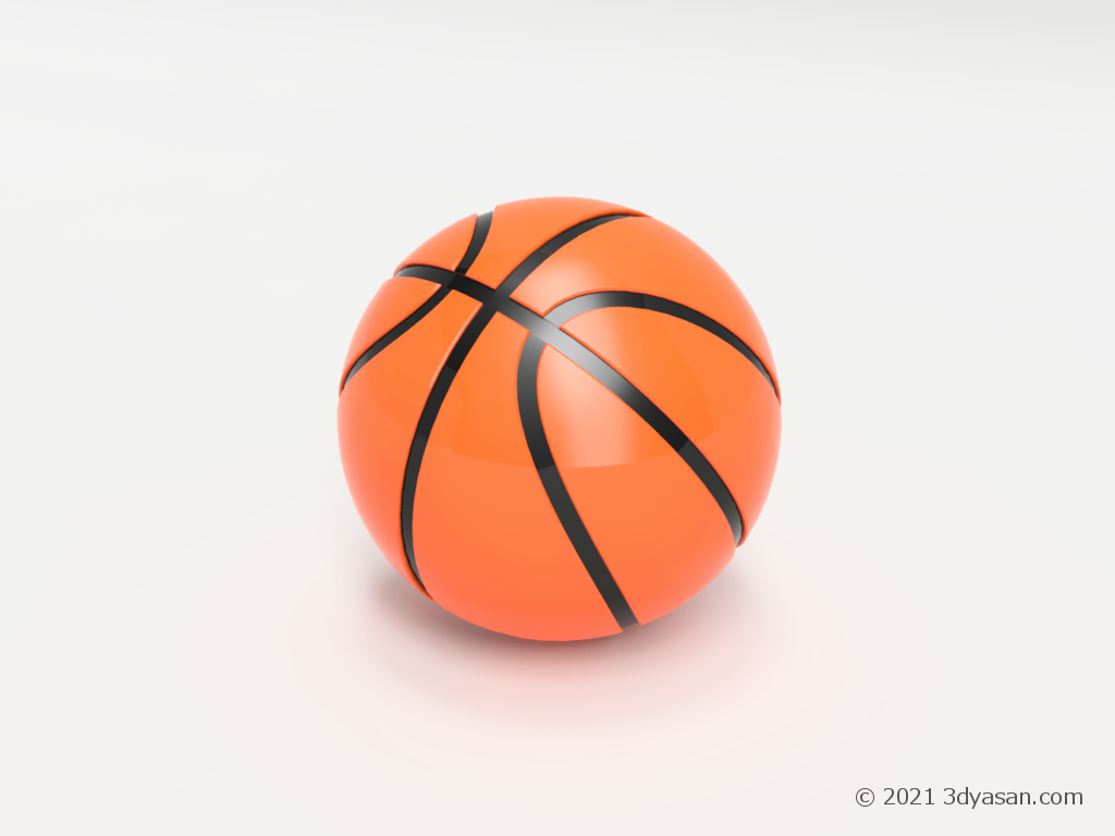 バスケットボールの3Dモデル