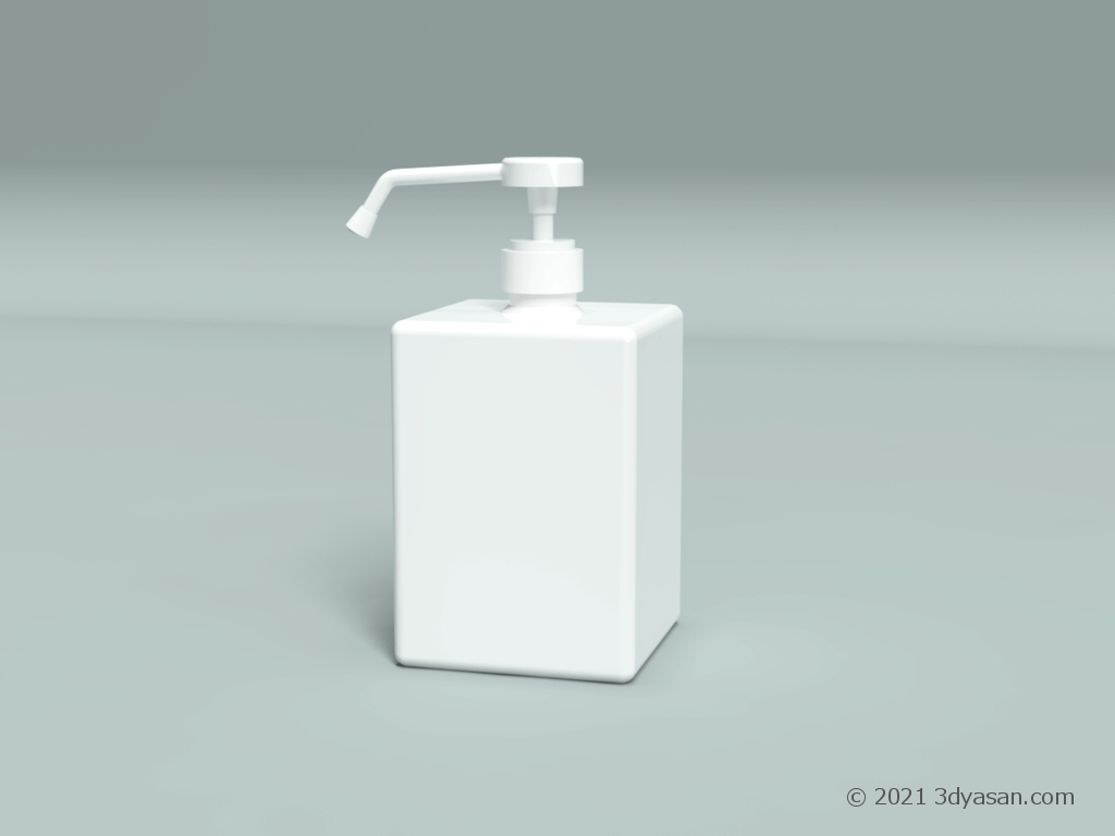 置き型スプレーボトルの3Dモデル