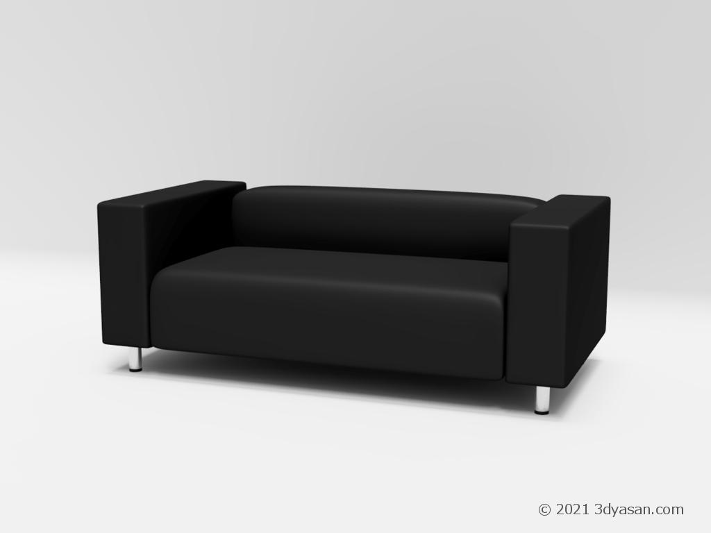2人掛けソファの3Dモデル