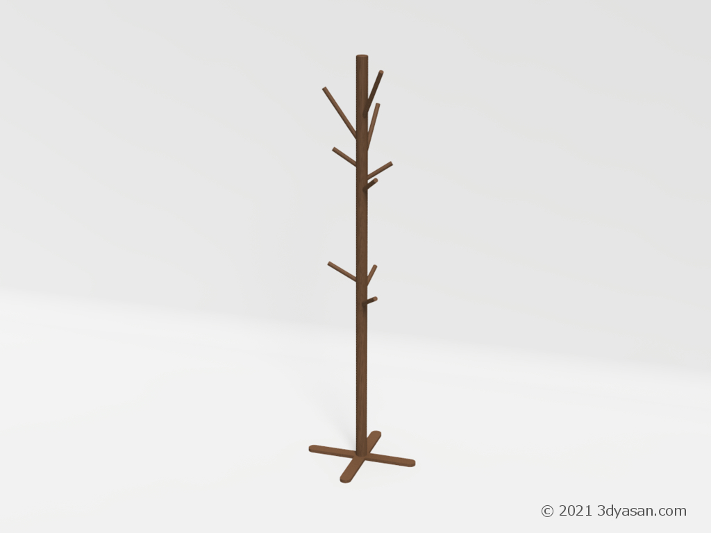ポールハンガーの3Dモデル