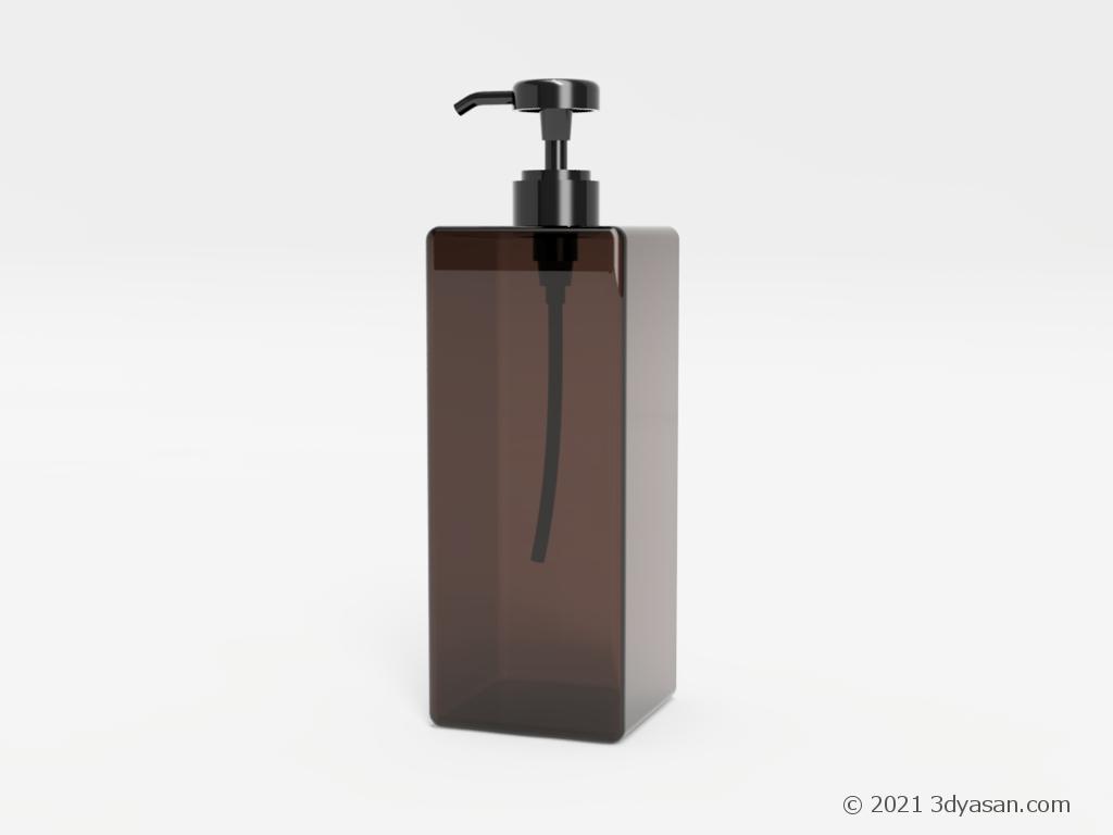 シャンプーボトルの3Dモデル