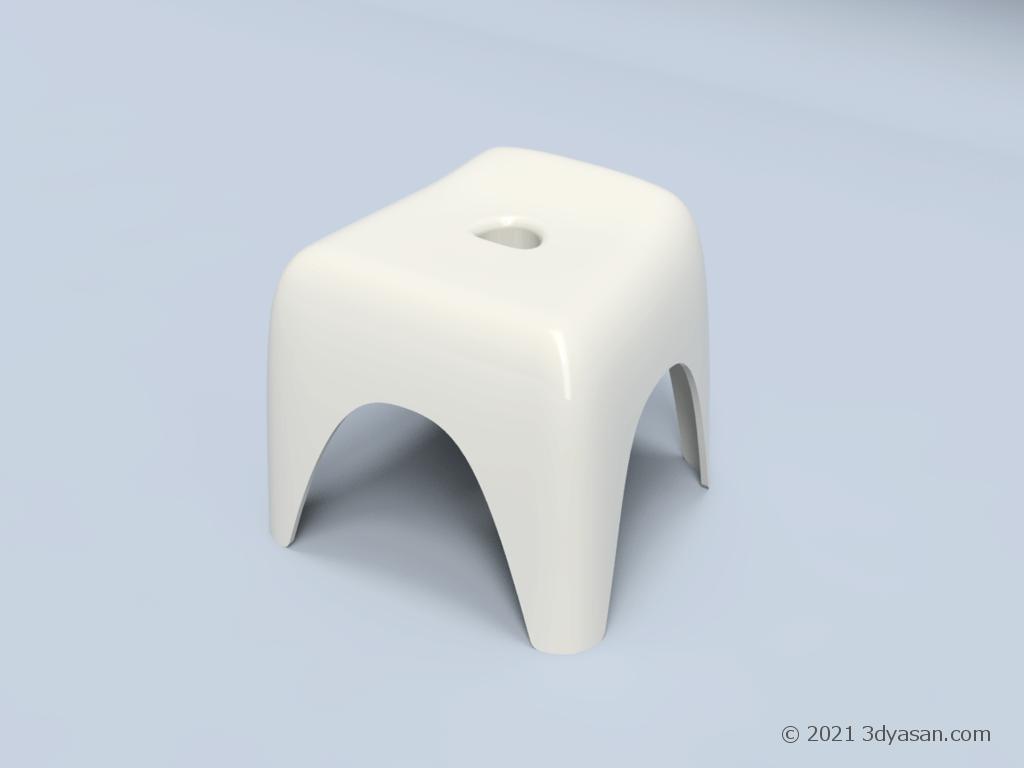 お風呂イスの3Dモデル