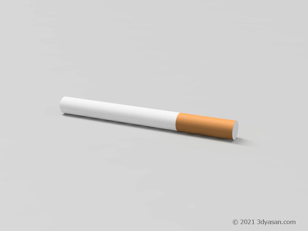 たばこの3Dモデル