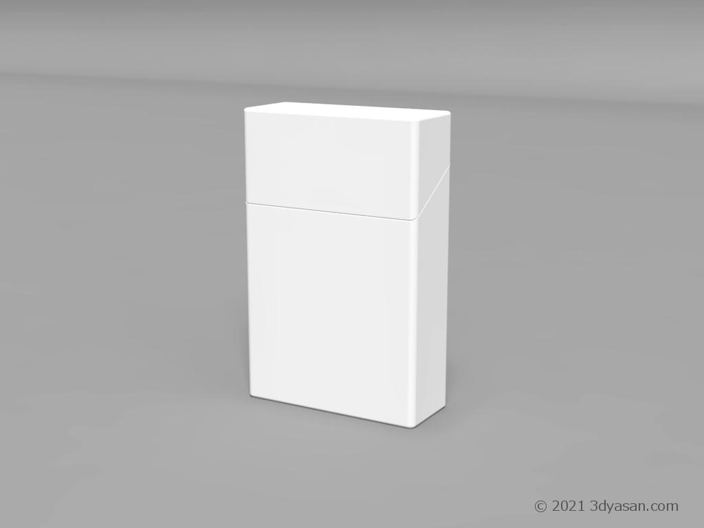 たばこの箱の3Dモデル