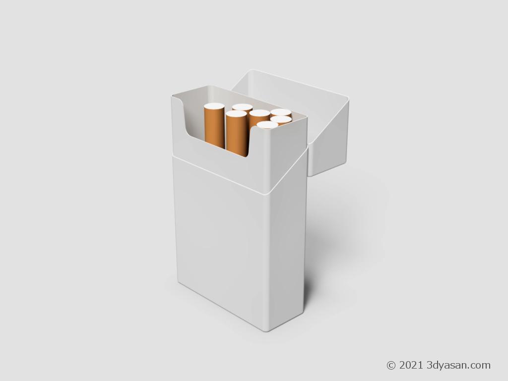 開いたたばこの箱の3Dモデル