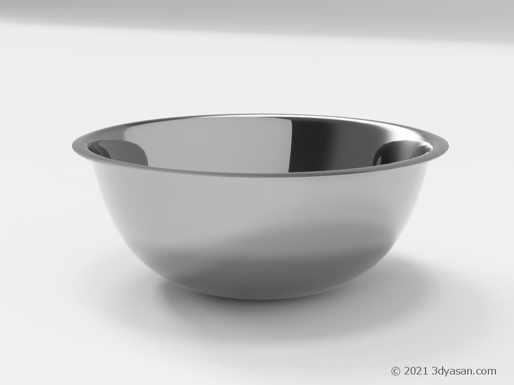 ステンレスボウルの3Dモデル