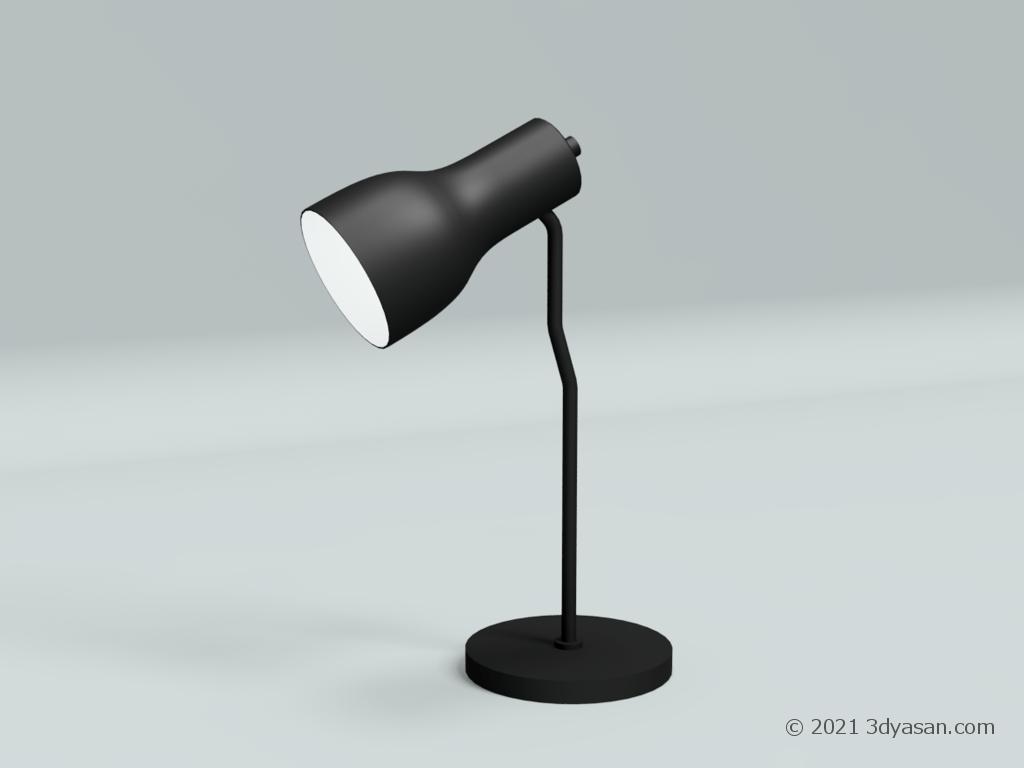 デスクライトの3Dモデル