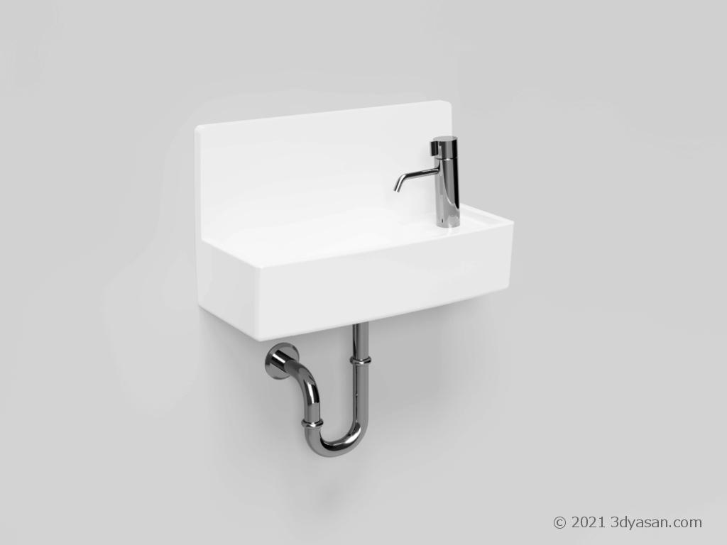 トイレの手洗い台の3Dモデル