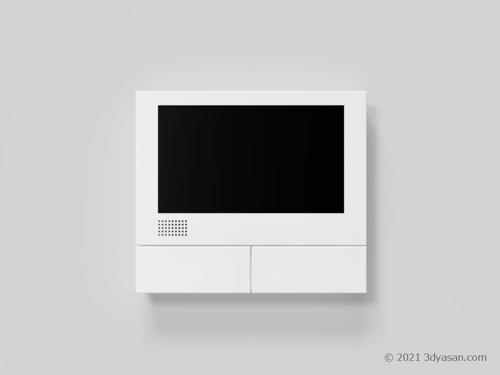 インターホン親機の3Dモデル