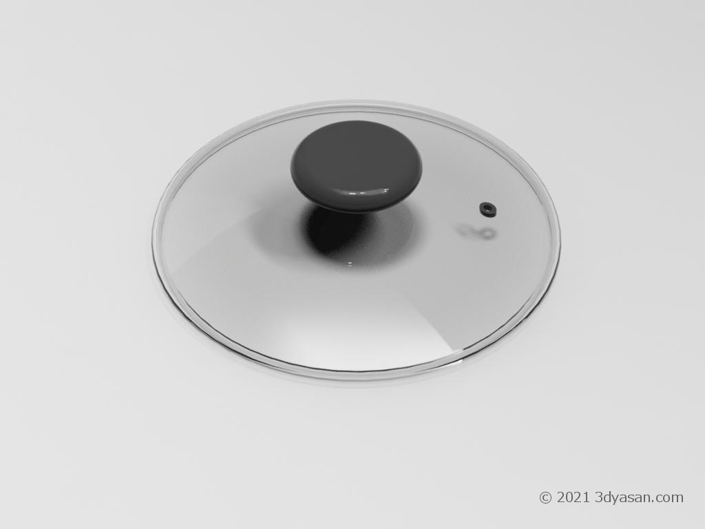 片手鍋のフタの3Dモデル