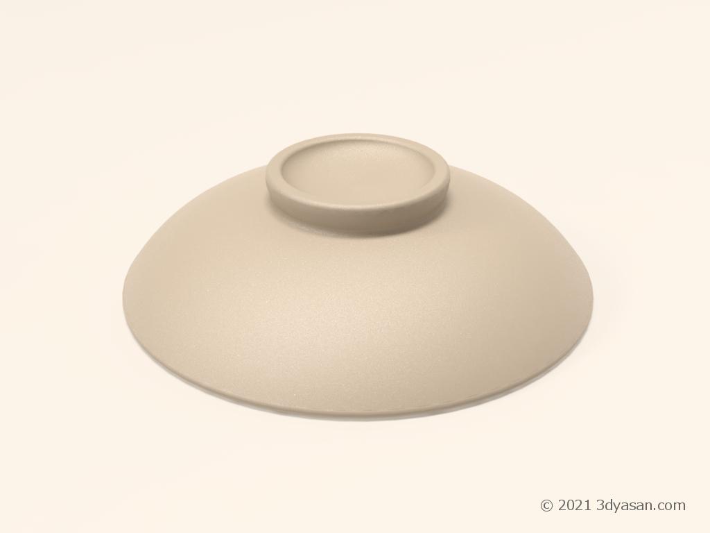 土鍋の蓋の3Dモデル