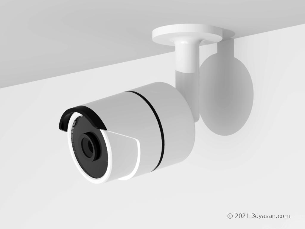 防犯カメラ(監視カメラ)の3Dモデル