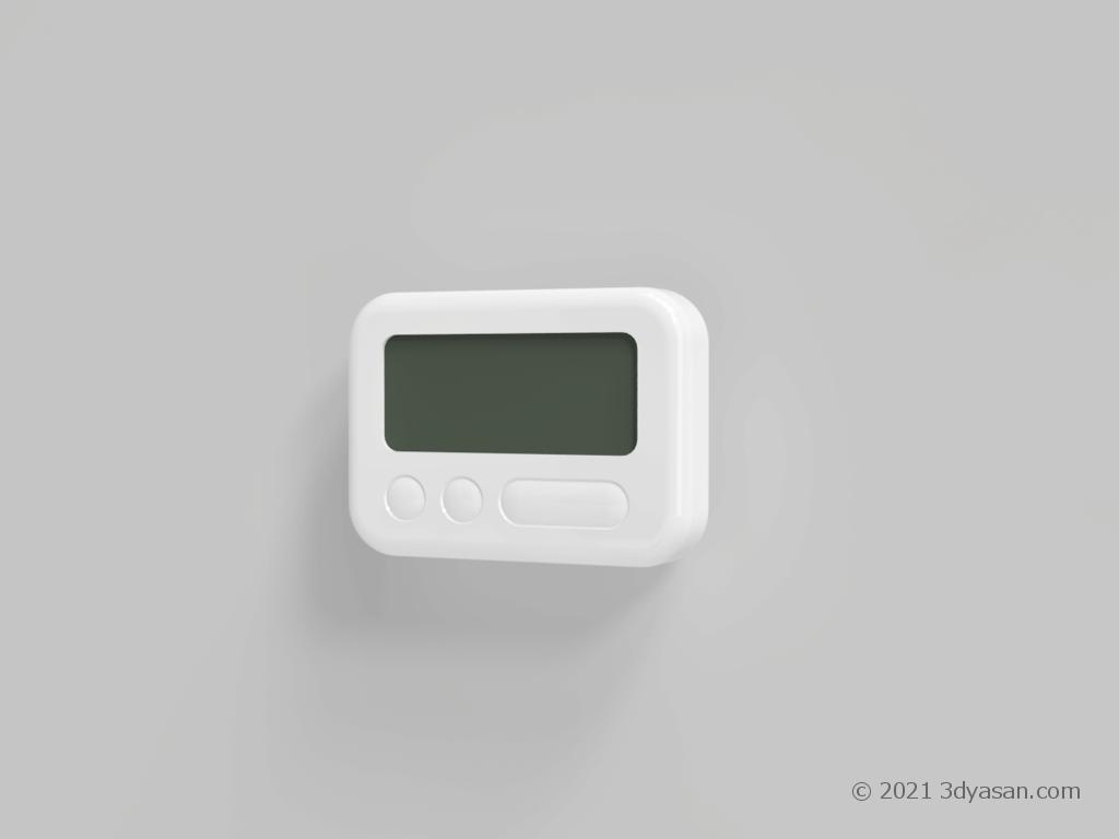 キッチンタイマーの3Dモデル