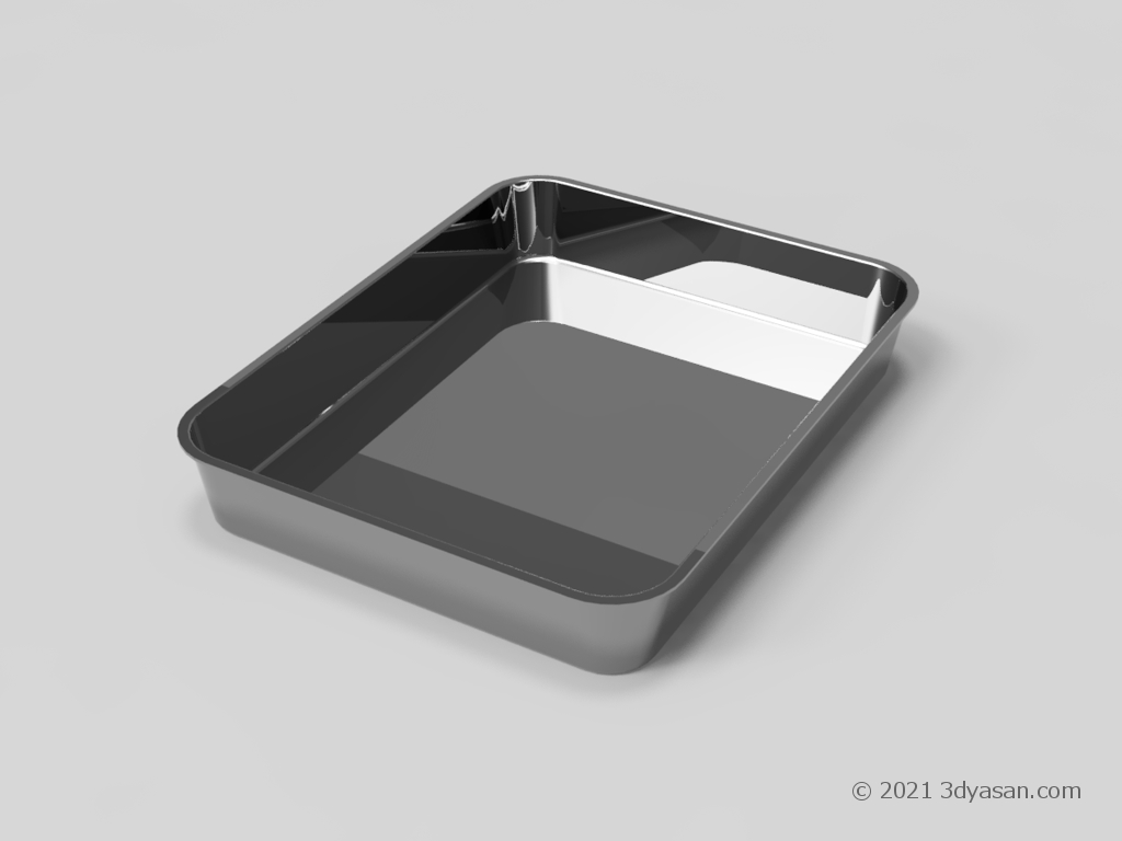 バット(トレー)の3Dモデル