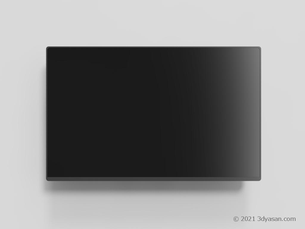 壁掛けテレビの3Dモデル