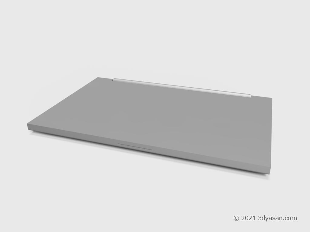 閉じたノートパソコンの3Dモデル
