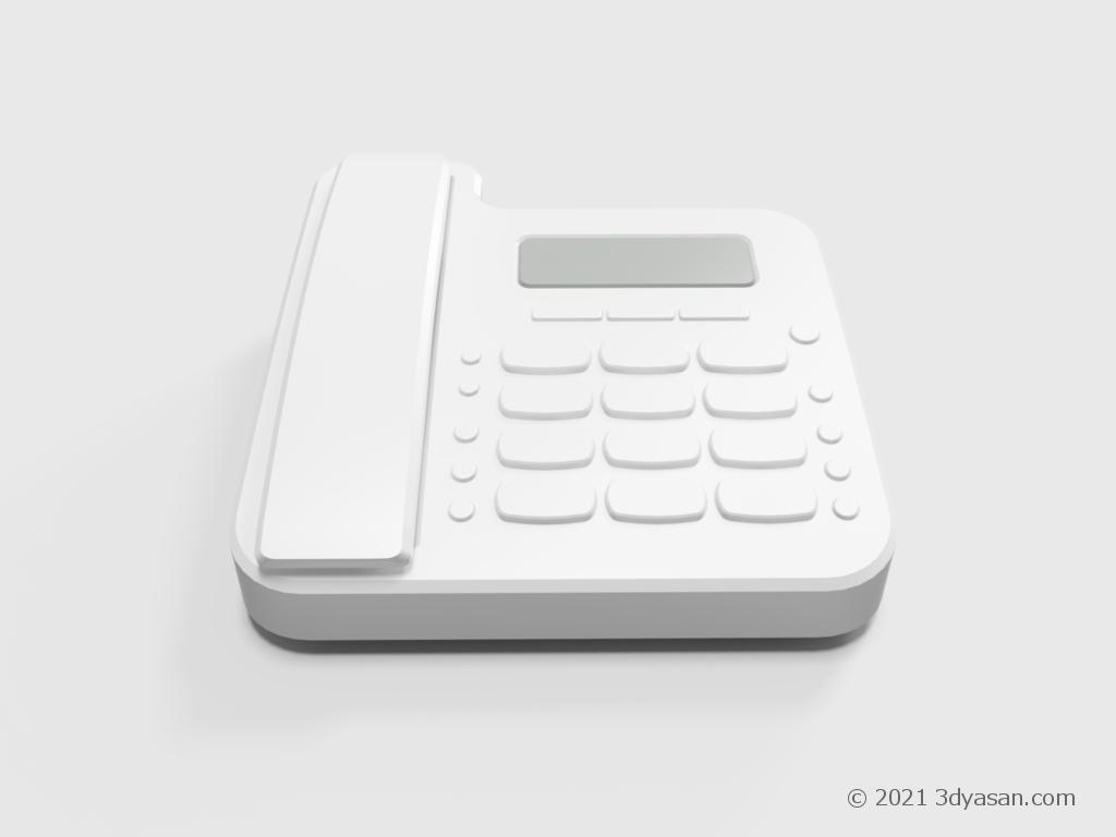 固定電話機の3Dモデル