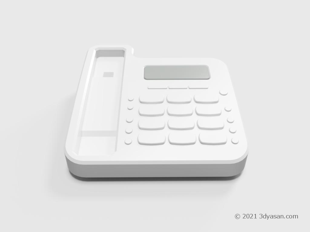 固定電話機(本体のみ)の3Dモデル