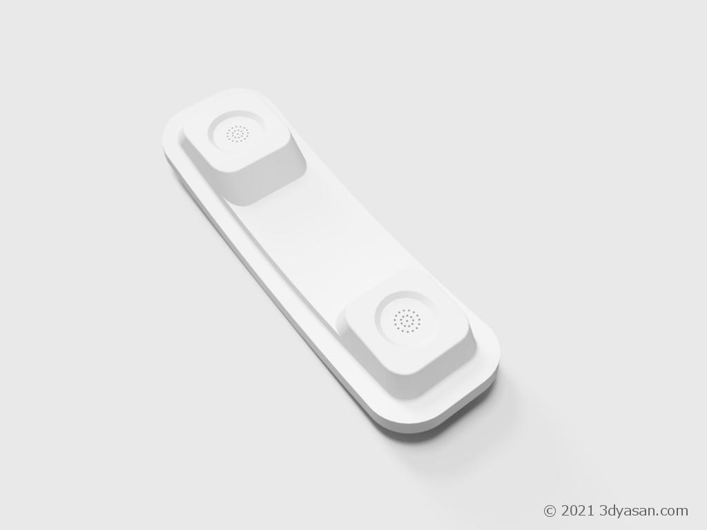 固定電話の受話器の3Dモデル