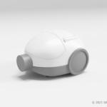 掃除機の本体の3Dモデル