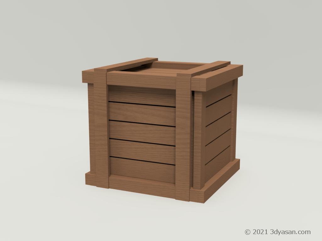 木箱の3Dモデル