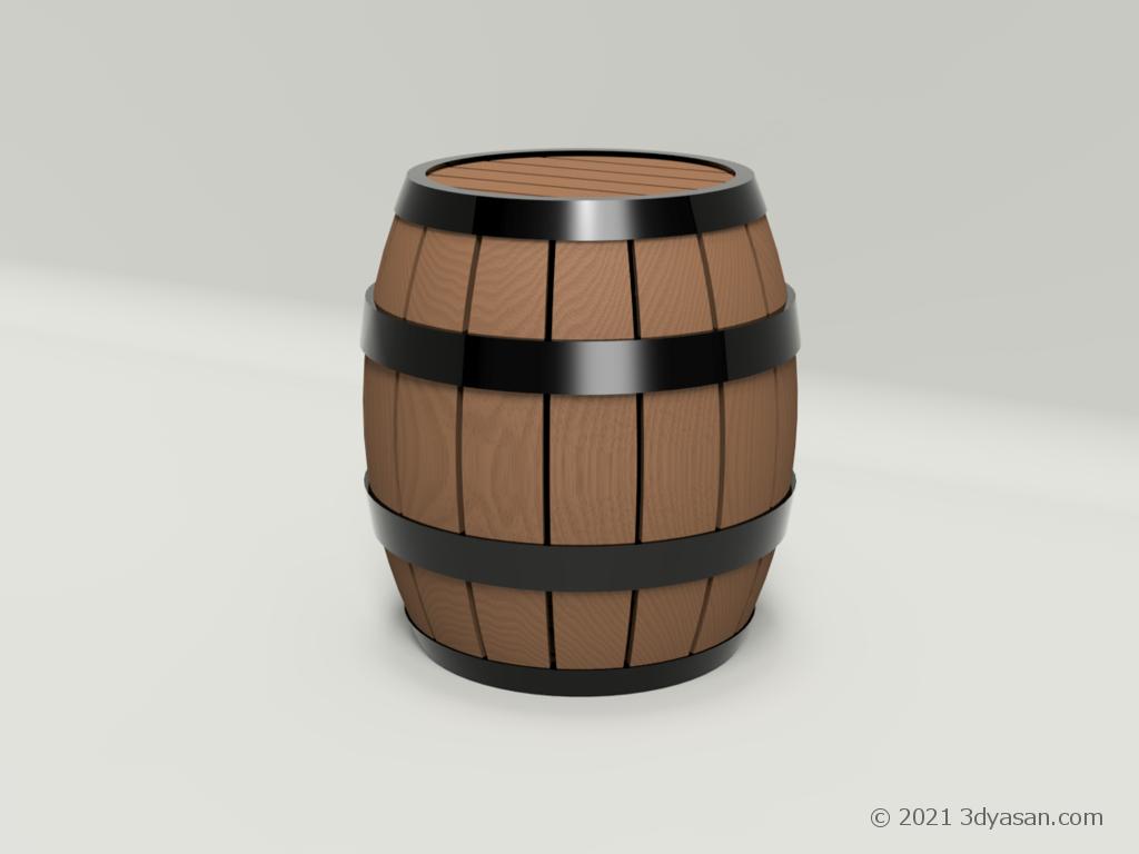 樽の3Dモデル