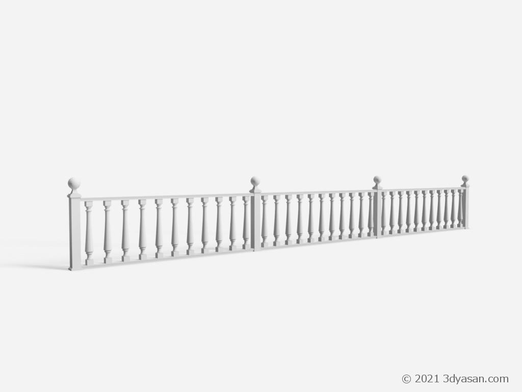 西洋風柵の3Dモデル