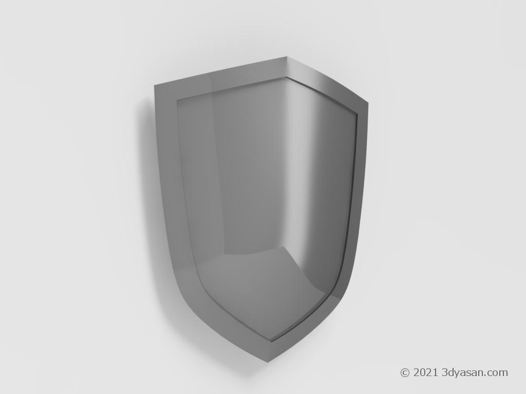 手盾(シールド)の3Dモデル