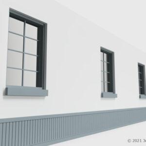 腰壁付き壁(窓付き)