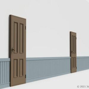 腰壁付き壁(室内ドアつき)