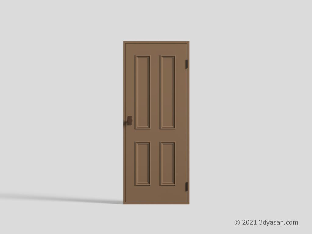 ドアの3Dモデル