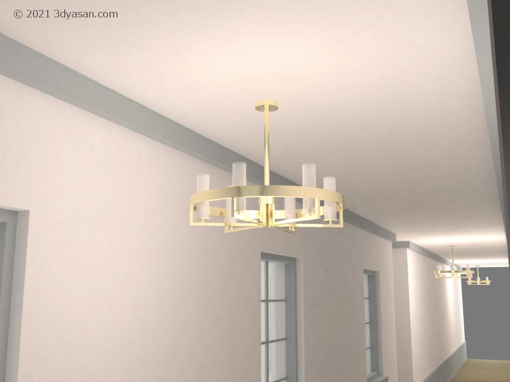 吊り下げランプの3Dモデル