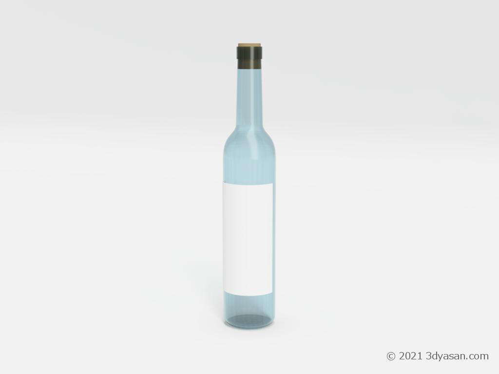 酒瓶の3Dモデル