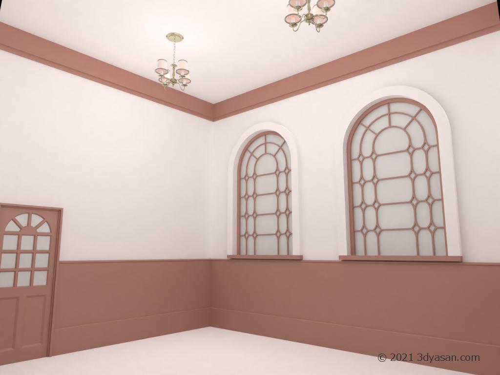 洋室の3Dモデル