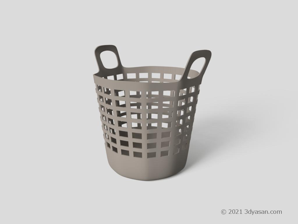 洗濯かごの3Dモデル