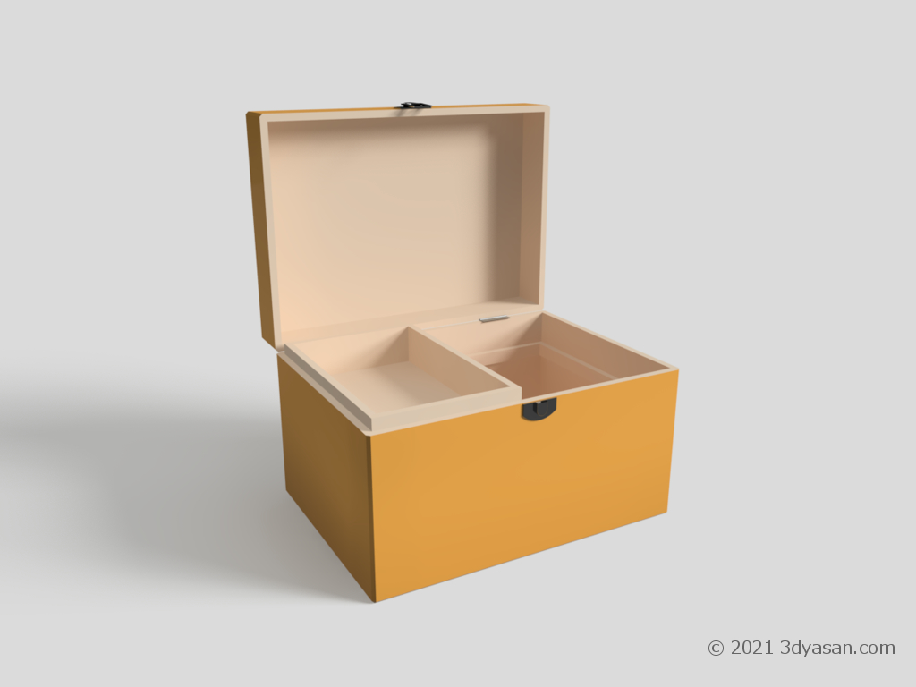 開いた救急箱の3Dモデル